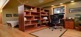 تبدیل زیرزمین خانه به اتاق کار شیک و کاربردی