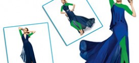 مدل لباس مجلسی آبی رنگ